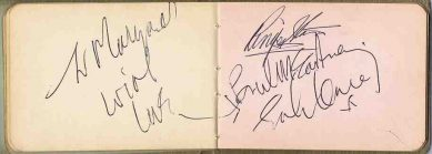 The Beatles Autographs 1965 autograph for sale John Lennon, Paul McCartney, Ringo Starr