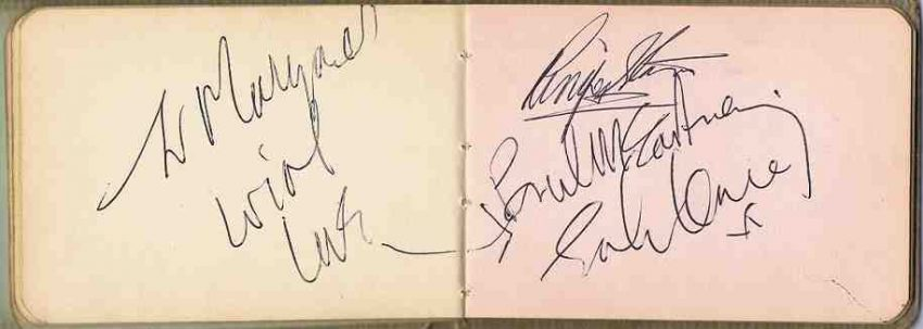 The Beatles Autographs for sale 1965 autographs for sale