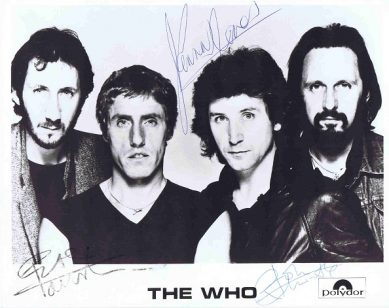The Who Autographs photo