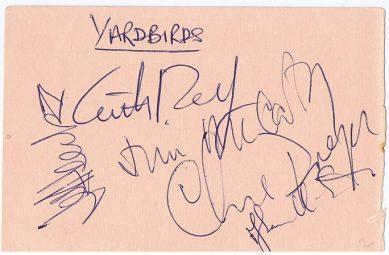 The Yardbirds Spencer Davis Group Autographs
