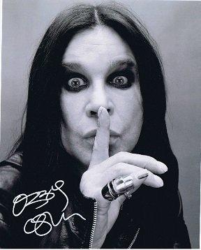 Ozzy Osbourne autograph photo Black Sabbath signed