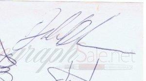 John Bonham autograph led zeppelin 12