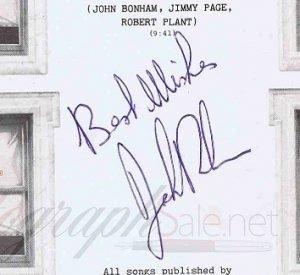 John Bonham autograph led zeppelin 9