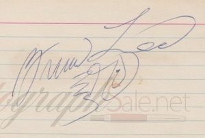 Fake Bruce Lee autograph