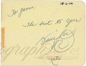 Bruce Lee autograph 1966 Kato