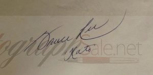 Bruce Lee Autographs and Autograph Examples
