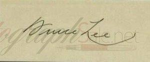 Fake Bruce Lee autograph
