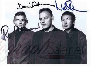 Pink Floyd Autographs David Gilmour Nick Mason Richard Wright
