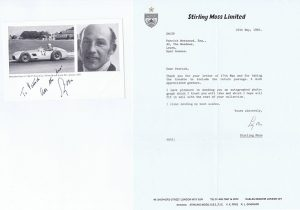 Stirling Moss Autograph photo and letter for sale - Sports Autographs
