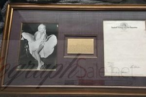 Marilyn Monroe Autograph signed Fox Contract 1950 - PSA/DNA