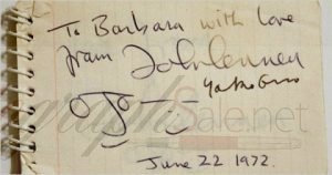 John Lennon Autographs and autograph examples The Beatles