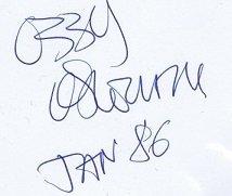 Ozzy Osbourne Autographs Black Sabbath
