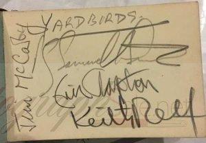 The Yardbirds Autographs with Eric Clapton