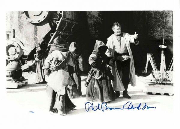 Phil Brown autograph Star Wars Uncle Owen Lars