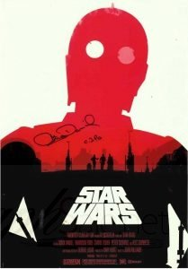 Anthony Daniels C-3PO Autograph Star Wars
