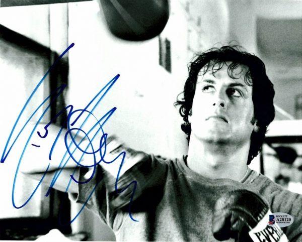 Sylvester Stallone autograph Rocky Balboa photograph