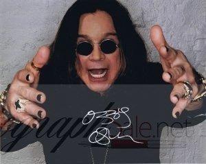 Ozzy Osbourne autograph photo Black Sabbath