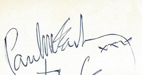 Paul McCartney autograph 1963