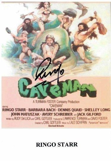 Ringo Starr Autograph from Caveman