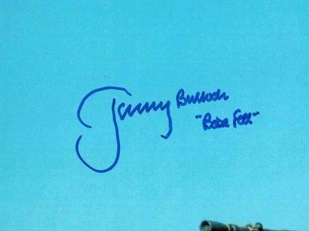 jeremy bulloch autographs Boba Fett Star Wars 6