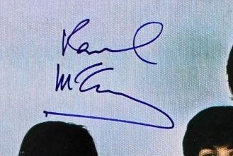 paul mccartney autograph yesterday today butcher