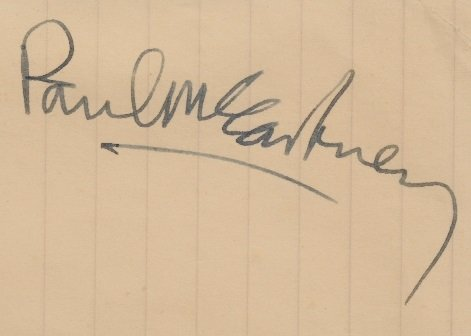 paul mccartney signed autograph april 1966