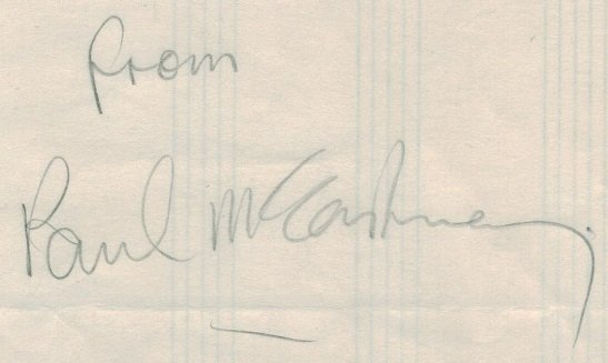 paul mccartney signed signature