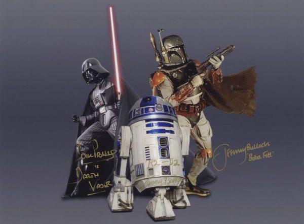 Darth Vader, Boba Fett, & R2-D2 Star Wars Signed Autograph