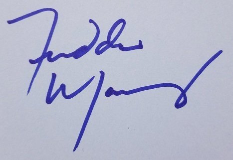 freddie mercury autograph early 80's