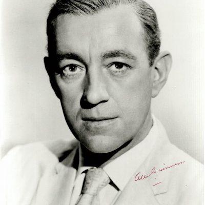 Alec Guinness autograph for sale early 8×10 portrait photograph