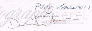 David Gilmour Autograph Examples | Pink Floyd Autographs