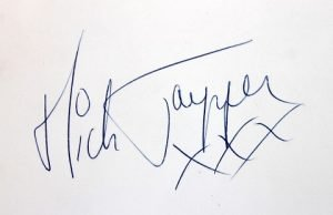 Mick Jagger Autograph Examples   The Rolling Stones