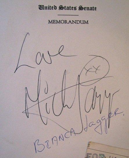 mick jagger autographs rolling stones