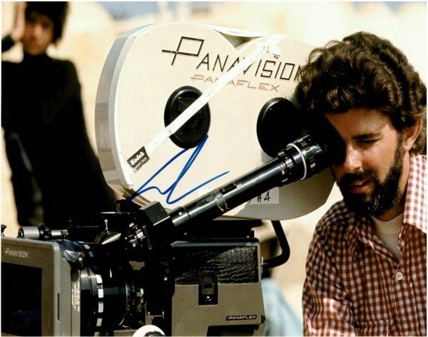 George Lucas autograph photo 11×14