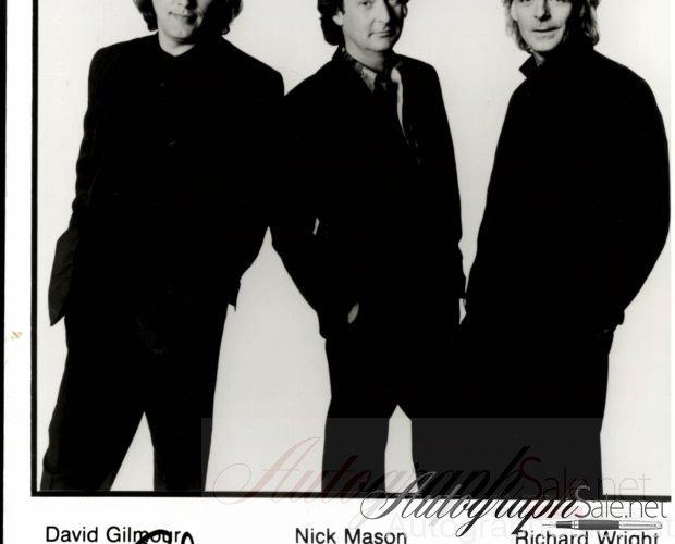 Pink Floyd Autograph photo David Gilmour Nick Mason