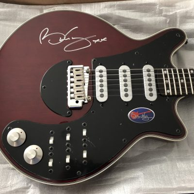Brian May signed Guitar Queen Red Special custom-made guitar