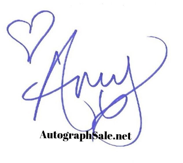 Authentic Amy Winehouse Autographs