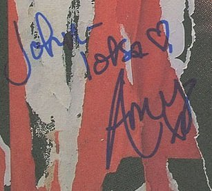 autographs amy winehouse