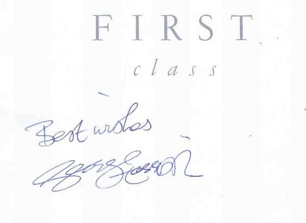 George Harrison autographed British Airways Menu The Beatles
