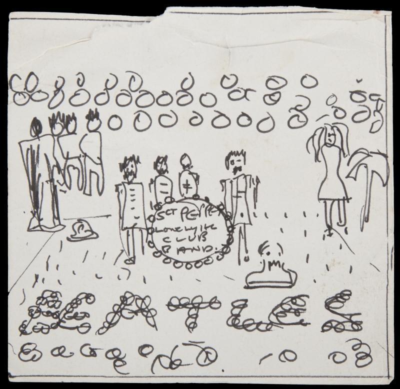 John Lennon sgt peppers sketch