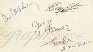 The beatles autographs mid 1963 the beatles autographs value