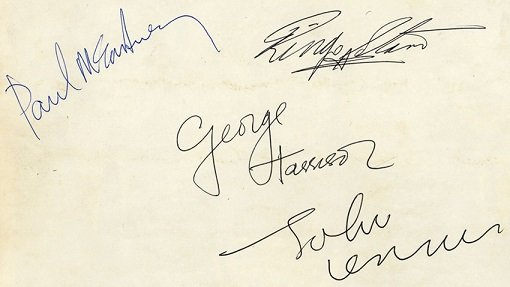 The beatles autographs mid 1963