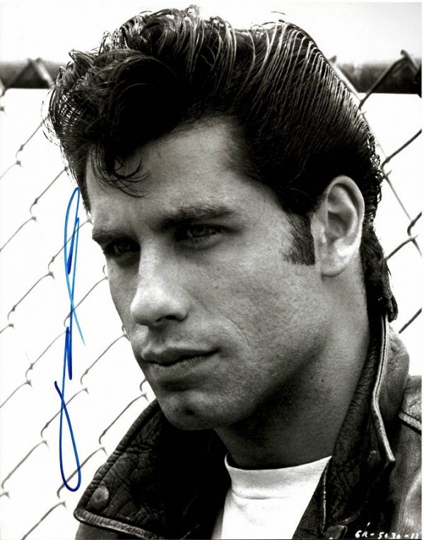 John Travolta Autograph from Grease 8×10 photo