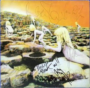 Led Zeppelin signed houses of the holy