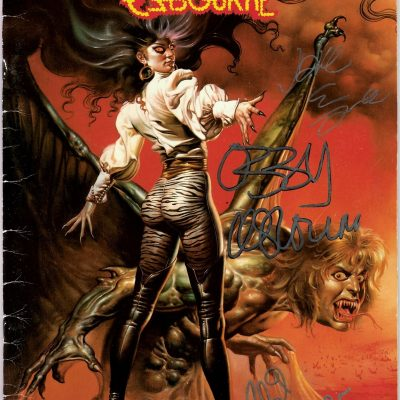 Ozzy Osbourne signed Ultimate Sin tour program Jake E Lee Phil Soussan