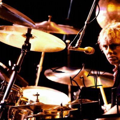 Roger Taylor Autograph 12×8 photograph Queen Drummer