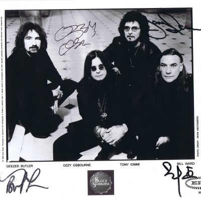 Black Sabbath Autograph Photo Ozzy Osbourne, Tony Iommi 8×10