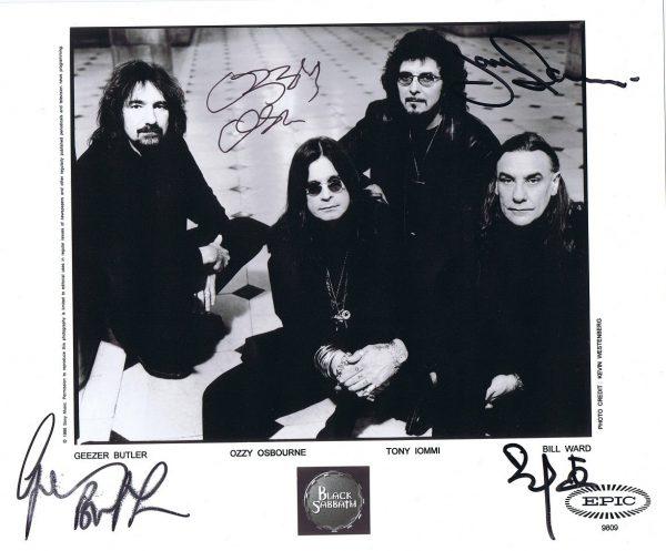 Black Sabbath Autograph Photo Ozzy Osbourne, Tony Iommi 8×10