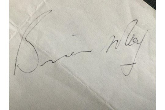 Brian May 1975 autograph