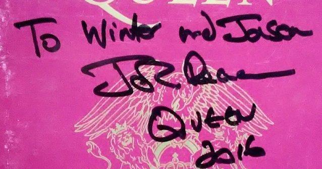 John Deacon autographs 2016